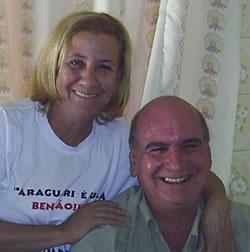 Walker Cassiano, aniversariante do dia 17, com a esposa Walkíria