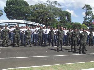 Grupamento Alfa 2014, composto por 231 recrutas de Araguari e Itumbiara. Foto: Gazeta do Triângulo