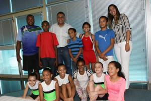 Antes da viagem, equipe visitou o gabinete do prefeito Gilmar Machado. Foto: SECOM