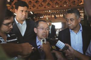 Durante visita na manhã desta sexta-feira, 26, o representante do governo federal acenou para uma realidade distinta entre o município e a divisa com Goiás. Foto: Gazeta do Triângulo
