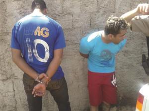 Segundo a PM, jovens suspeitos, de 25 e 21 anos, são conhecidos pelo envolvimento em outros delitos. Foto:  Divulgação