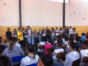 Escolas recebem vereadores em palestra do projeto Câmara Jovem. Foto: Divulgação