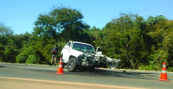 Mais um grave acidente na BR-050 ** PRF