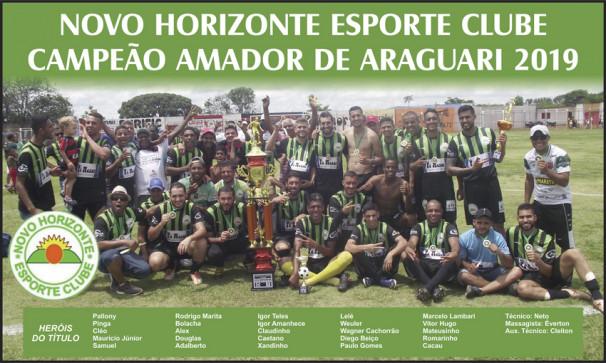 Novo Horizonte, campeão inédito