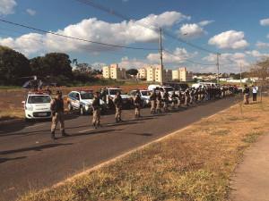 À frente da PM de Araguari, major Célio liderou ações e operações para reforçar a segurança da cidade.