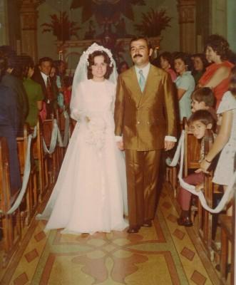 Enlace Matrimonial de Darli e Vanda em 1978